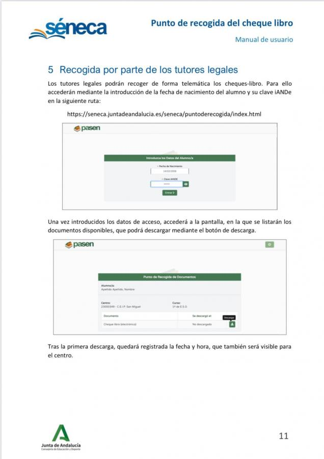 Descarga de cheque libro